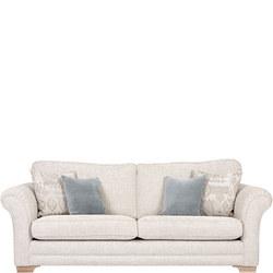 Georgia Sofa, Stone Ikat Plain