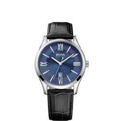 Classic Ambassador Round Watch Blue