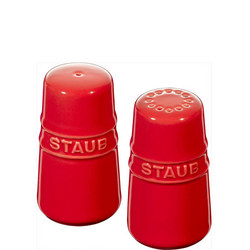 Ceramic Salt & Pepper Shakers Red