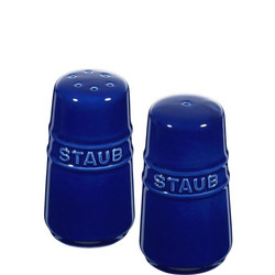 Ceramic Salt & Pepper Shakers Blue