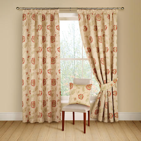 Poppy Trail Curtains Red