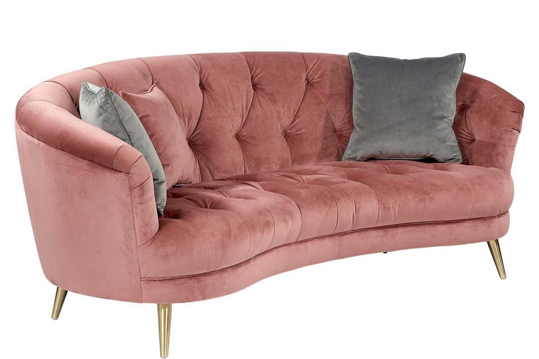 Jean Sofa Plush Velvet Rose