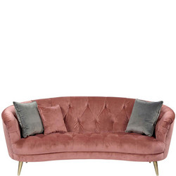 Jean Sofa Plush Velvet Rose