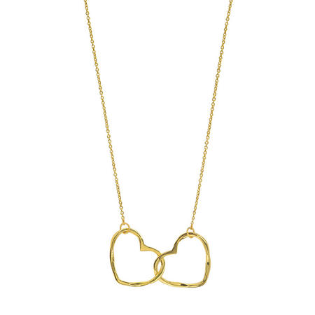 Gold Hearts Entwined Pendant