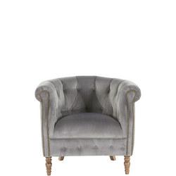 Jude Plush Velvet Armchair