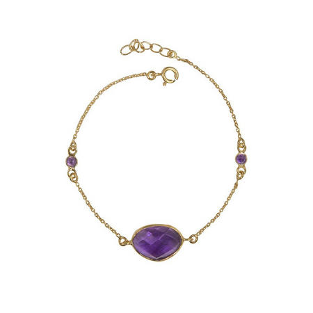 Gold Antibes Bracelet With Amethyst