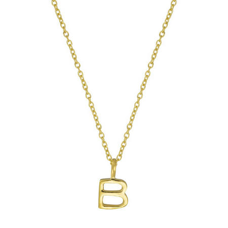 Gold B Initial Pendant