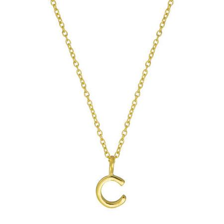 Gold C Initial Pendant
