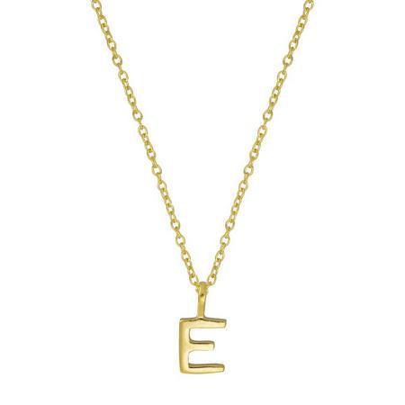 Gold E Initial Pendant