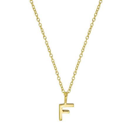 Gold F Initial Pendant