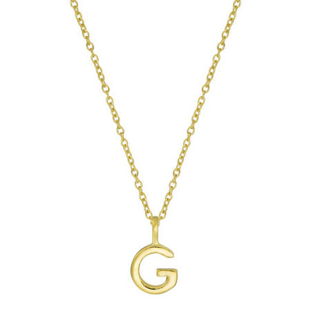 Gold G Initial Pendant