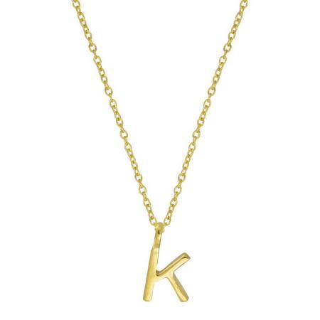 Gold K Initial Pendant