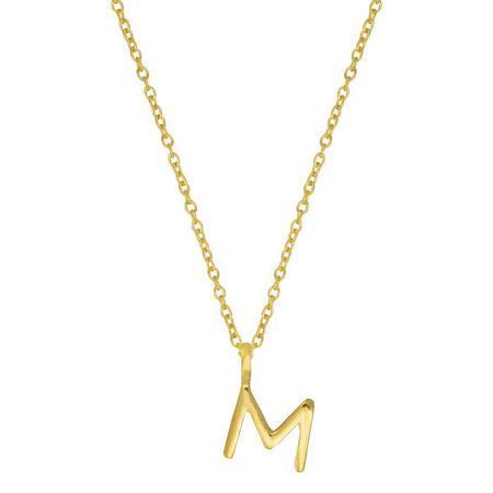 Gold M Initial Pendant