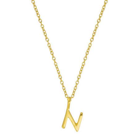 Gold N Initial Pendant