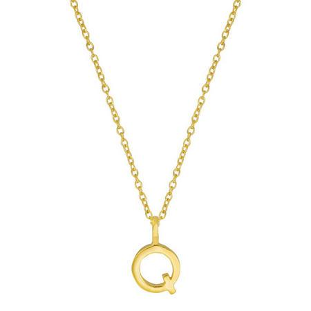 Gold Q Initial Pendant