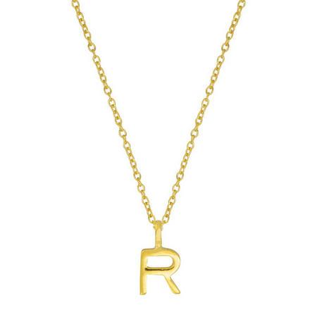 Gold R Initial Pendant
