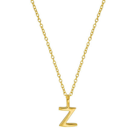 Gold Z Initial Pendant