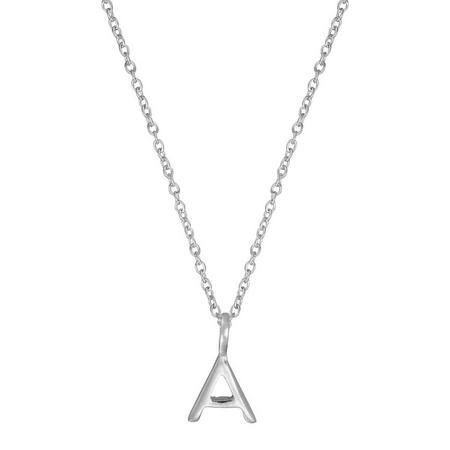 Silver A Initial Pendant