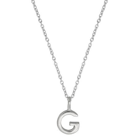 Silver G Initial Pendant