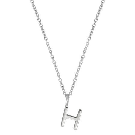 Silver H Initial Pendant