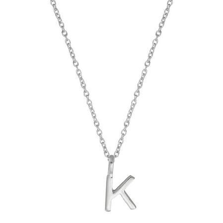 Silver K Initial Pendant