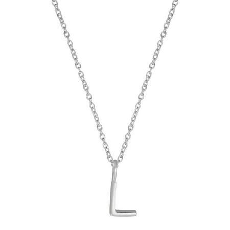 Silver L Initial Pendant