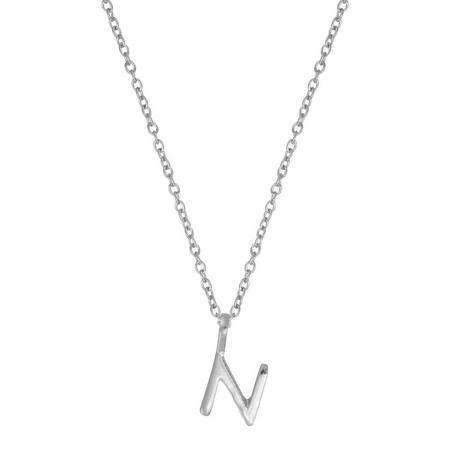 Silver N Initial Pendant