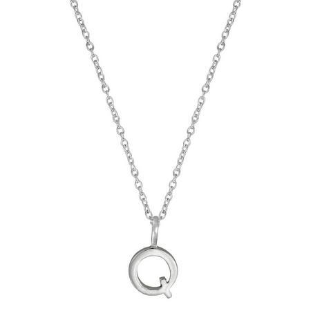 Silver Q Initial Pendant