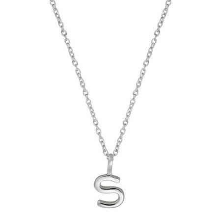 Silver S Initial Pendant