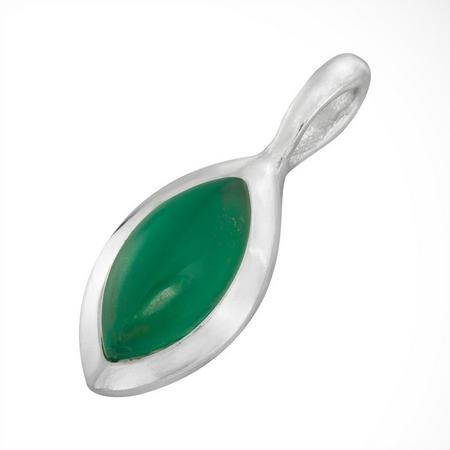 Silver Green Onyx May Birthstone Charm