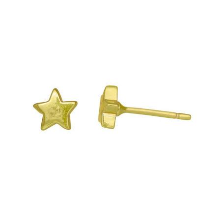 Gold Lucky Star Stud Earrings