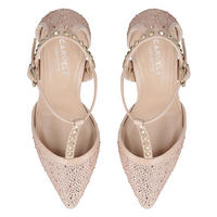 Kankan Jewel Court Shoes Brown