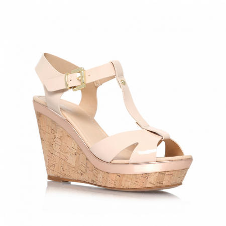 Kabby Wedge Sandals Ivory