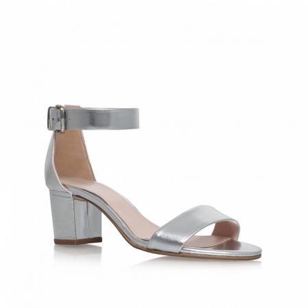 Krisp Mid Heel Sandals Silver