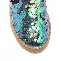 Milo Sequin Espadrilles Blue