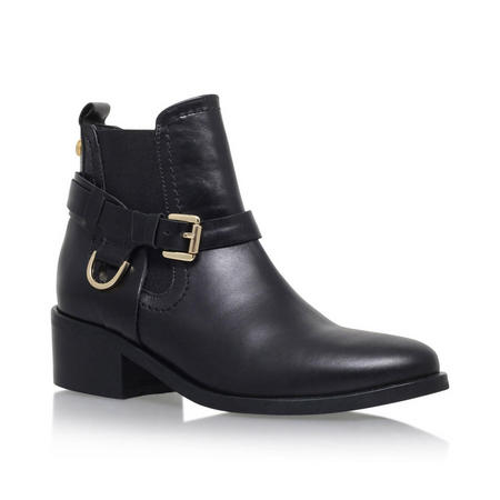 Saddle Ankle Boots Black