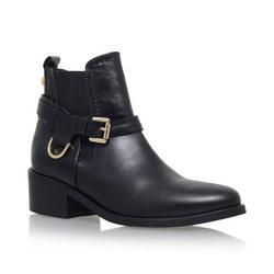 Saddle Ankle Boots Black