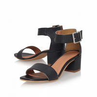 Shadow Heeled Sandals Black