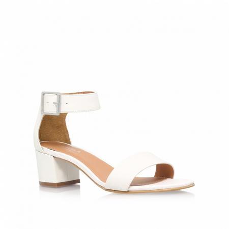 Shadow Heeled Sandals White