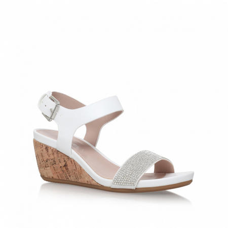 Sparkle Wedge Sandals White