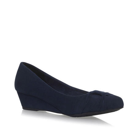 Carole Wedge Shoe Navy