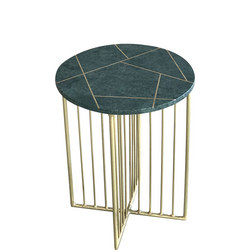 Lalit Marble And Inlay Side Table