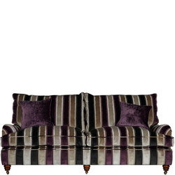 Lansdowne Three-Seater Sofa Promenade Silver Lilac