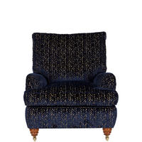 Lansdowne Large Armchair Fiume Arno Sapphire Gold