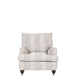 Lansdowne Reading Chair, Traviata Wide Stripe Silver