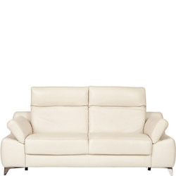 Levana L Sofa, Montana Angora, with Relax, Zen and Warmup Functions