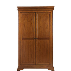 Louis Philippe Double Hanging Only Wardrobe