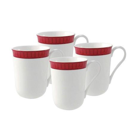 Madison 4x Mug Set Red