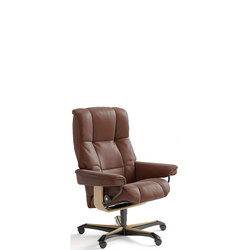 Mayfair Office Chair, Paloma Copper and Oak