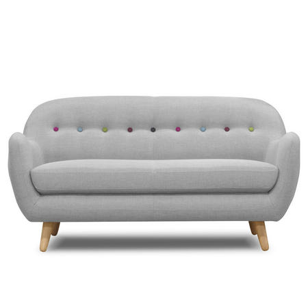 Retro Curved Sofa 2 Seat